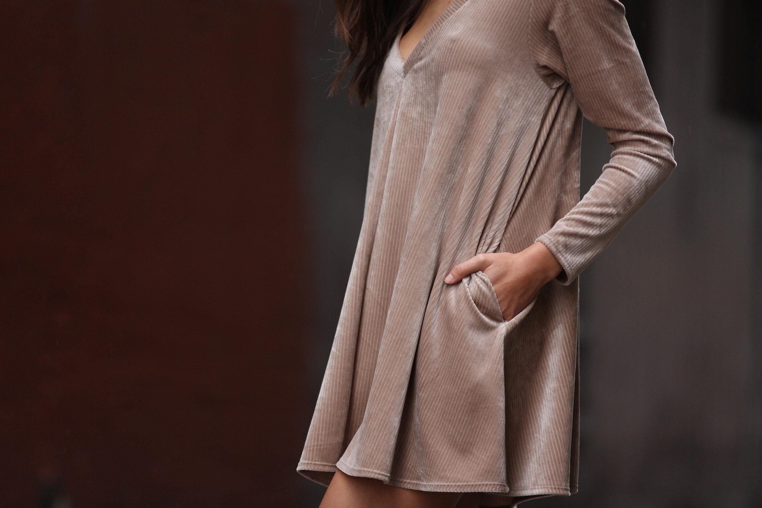DELACY HANNAH VELVET DRESS WITH POCKETS.JPG