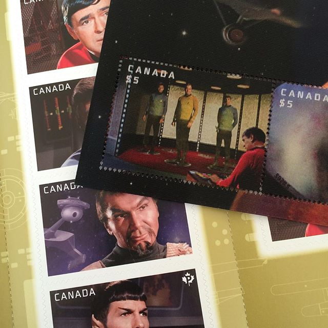 Picked up some new lenticular stamps at the post office today! I love putting together exciting packages to send out, including awesome stamps. 💌 #canadapost #startrek #lenticular #sendingsmiles