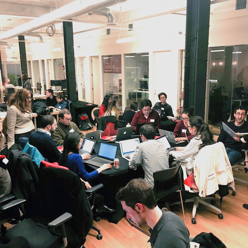 The affordable housing group gathered at Code for DC on January 14, 2015.
