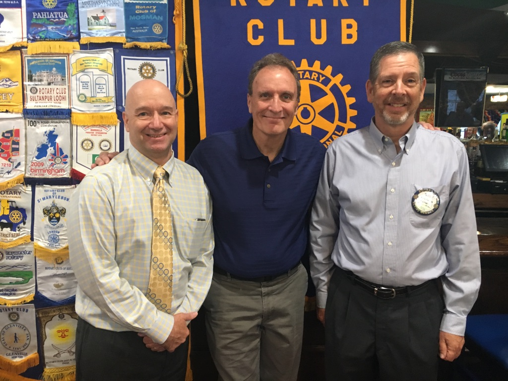 Founder Nick with Dave Wright, Red Hook Rotary Vice President, and Barry Ramage, Red Hook Rotary President.