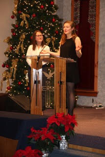 Directors Ali and Sophie at the AFF's Second Annual Winter Event