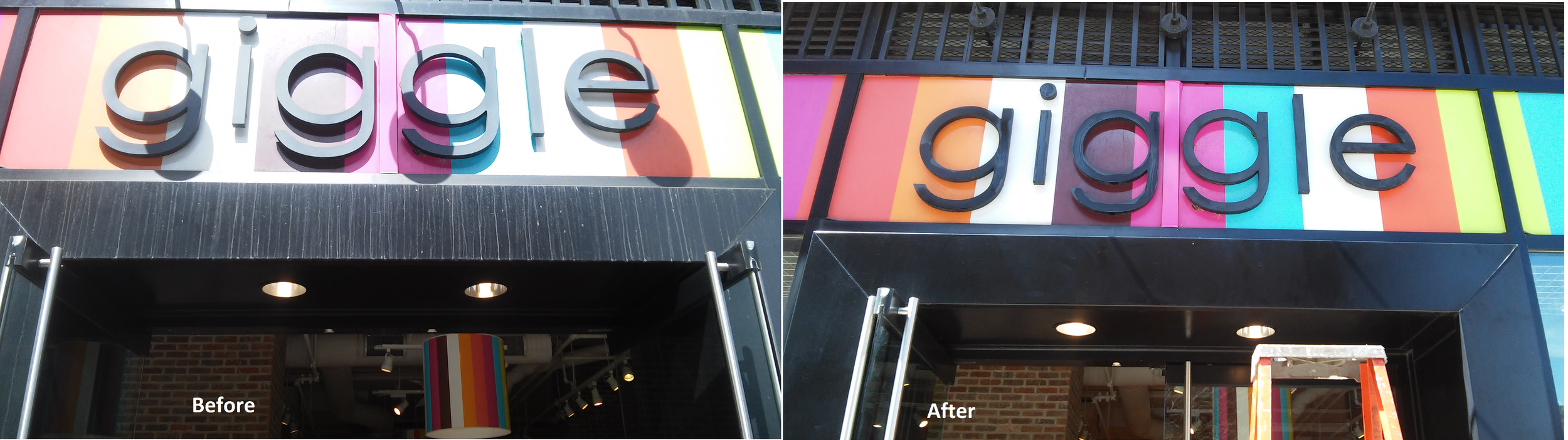 Retail - Cleaned and Polished Aluminum Entrance
