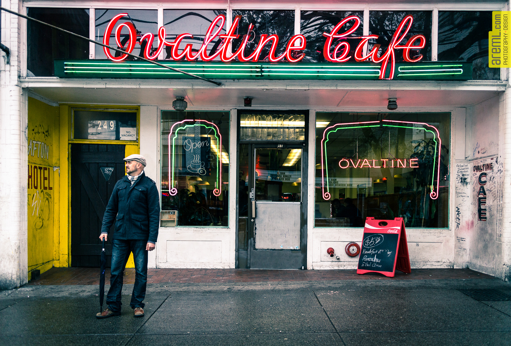 The Ovaltine Cafe is a cultural icon in Vancouver. It has just recently been revitalized. This is practically the heart of the DTES in Vancouver.