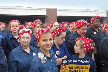 Guinness World Record: Rosie the RIveters gather to support our campaign to save THE Willow Run Bomber Plant