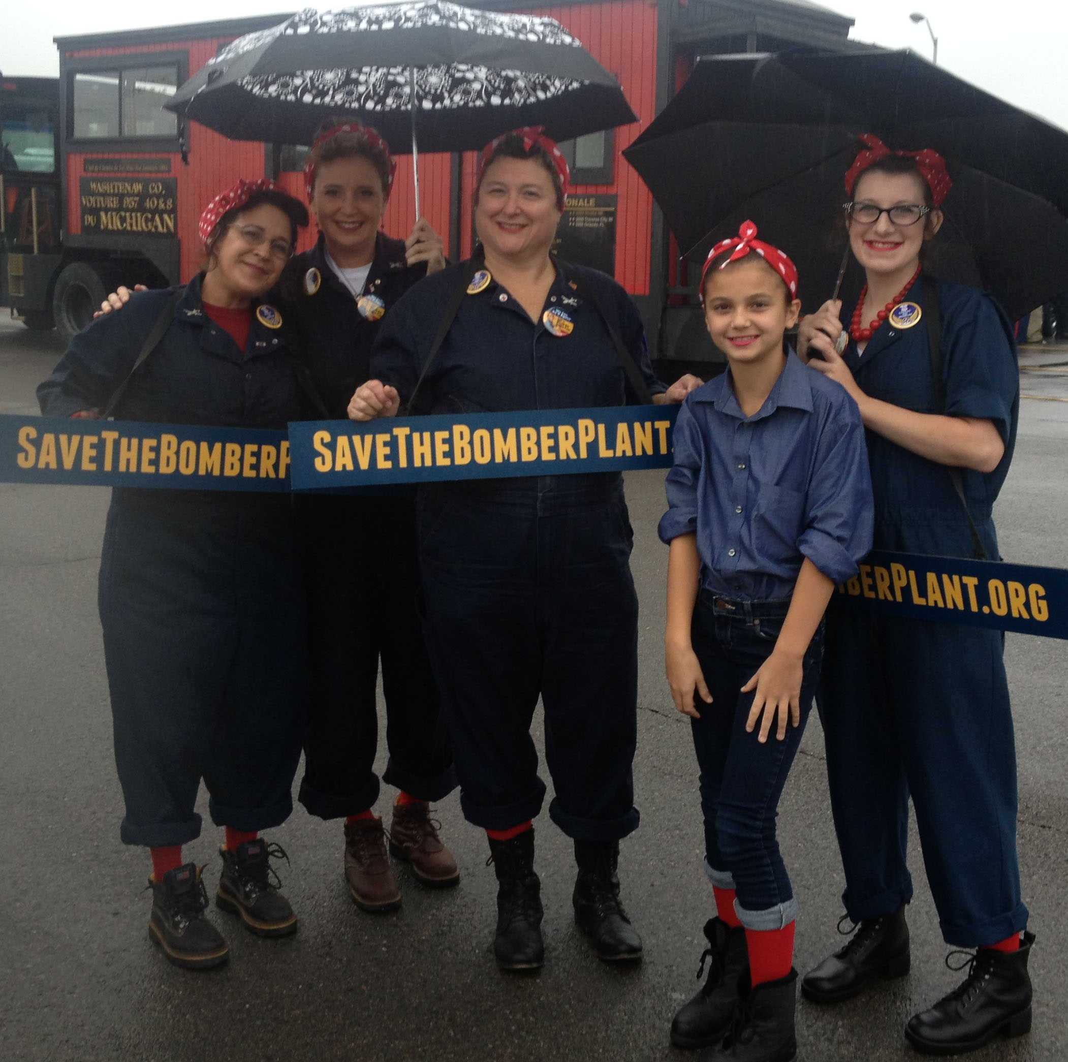 """The """"Save the Bomber Plant"""" Tribute Rosie the Riveters are always ready to march in one of southeastern Michigan's many annual Parades."""