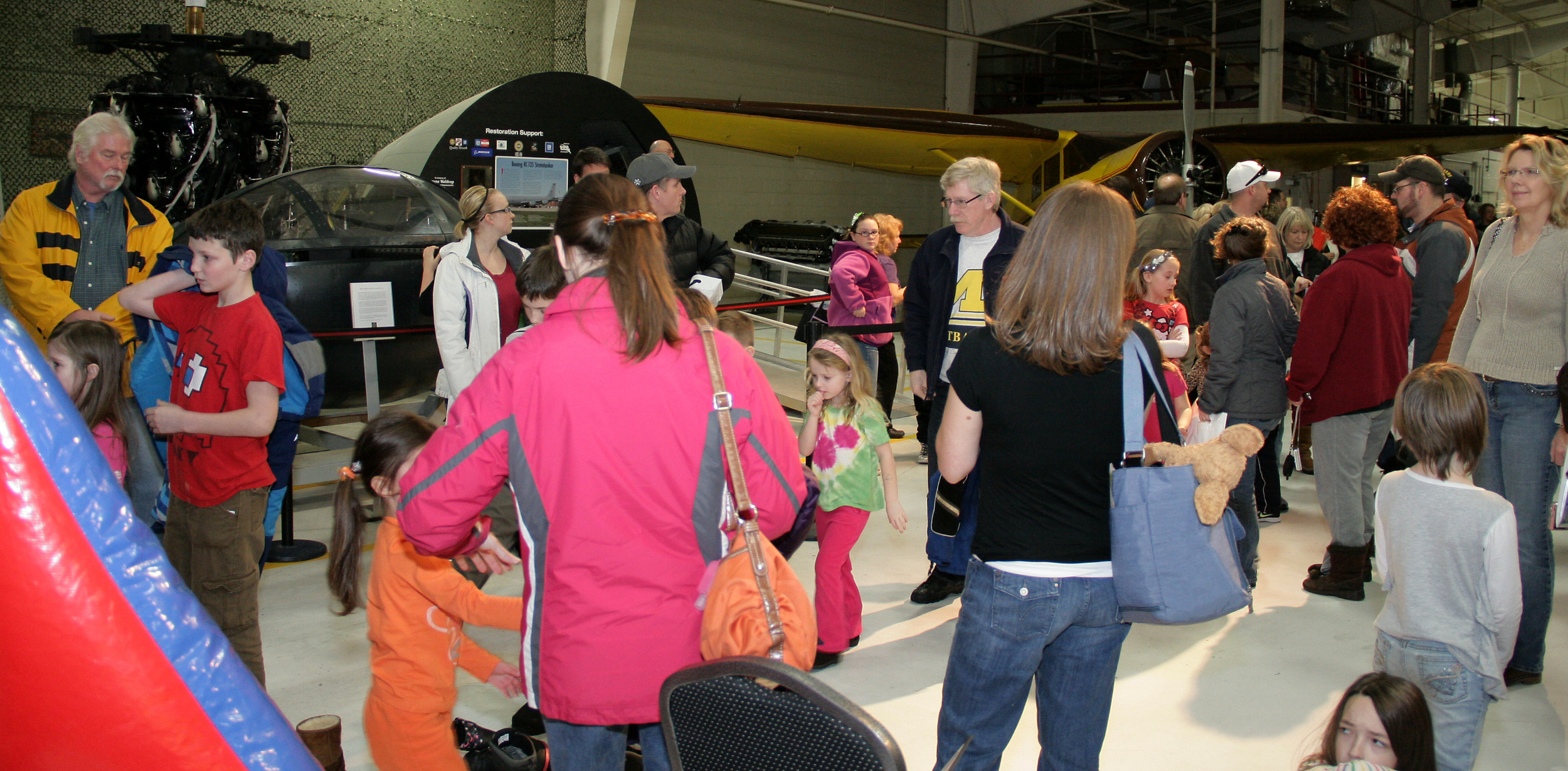 The Yankee Air Museum attracts visitors of all ages with educational exhibits and programs celebrating science technology and aviation.