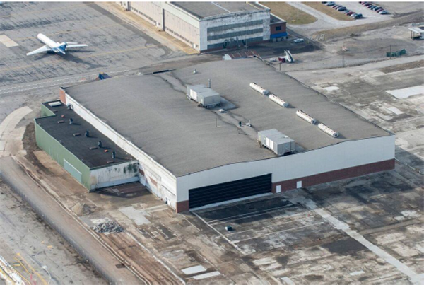 The historic Willow Run Bomber Plant after one full year of restoration work. With your continued help, we can finish the job and turn Rosie's WWII factory into a Museum!