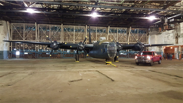 Planes return to Willow Run! The Yankee Air Museum was able to store 3 of its vintage aircraft out of the elements, and in the Bomber Plant last winter.