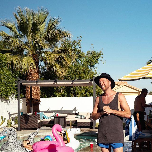 No cowboy hats in pool.