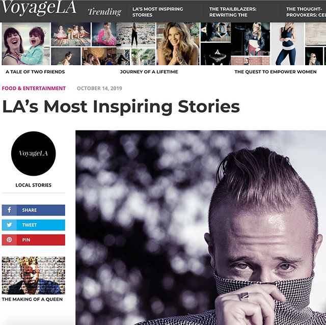 Thank you @voyagelamag for featuring me.  Click the link in my bio to read the full story! • • • • #voyagela #interview #singersongwriter #filmdirector #inspiringstories