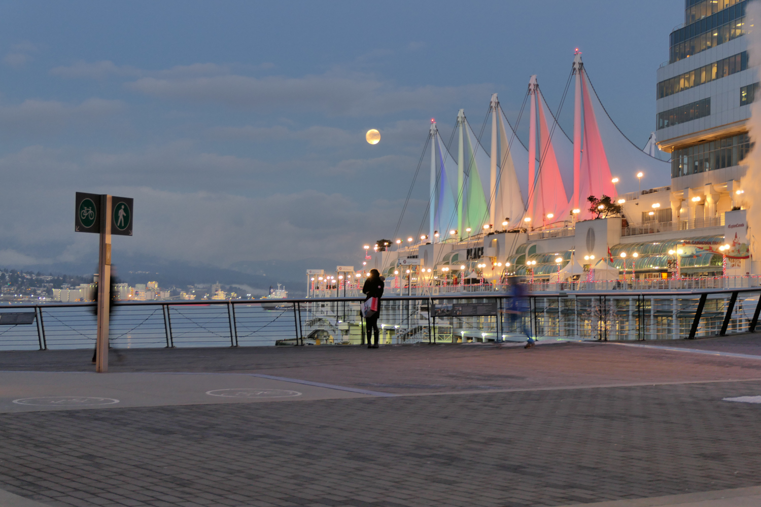 Full Moon over Canada Place