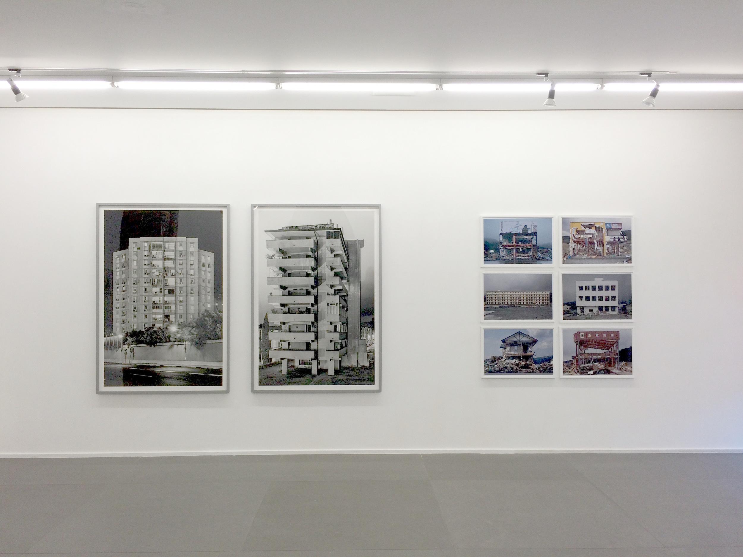 Installation view, works by Eli Singalovski and Hirohito Nomoto
