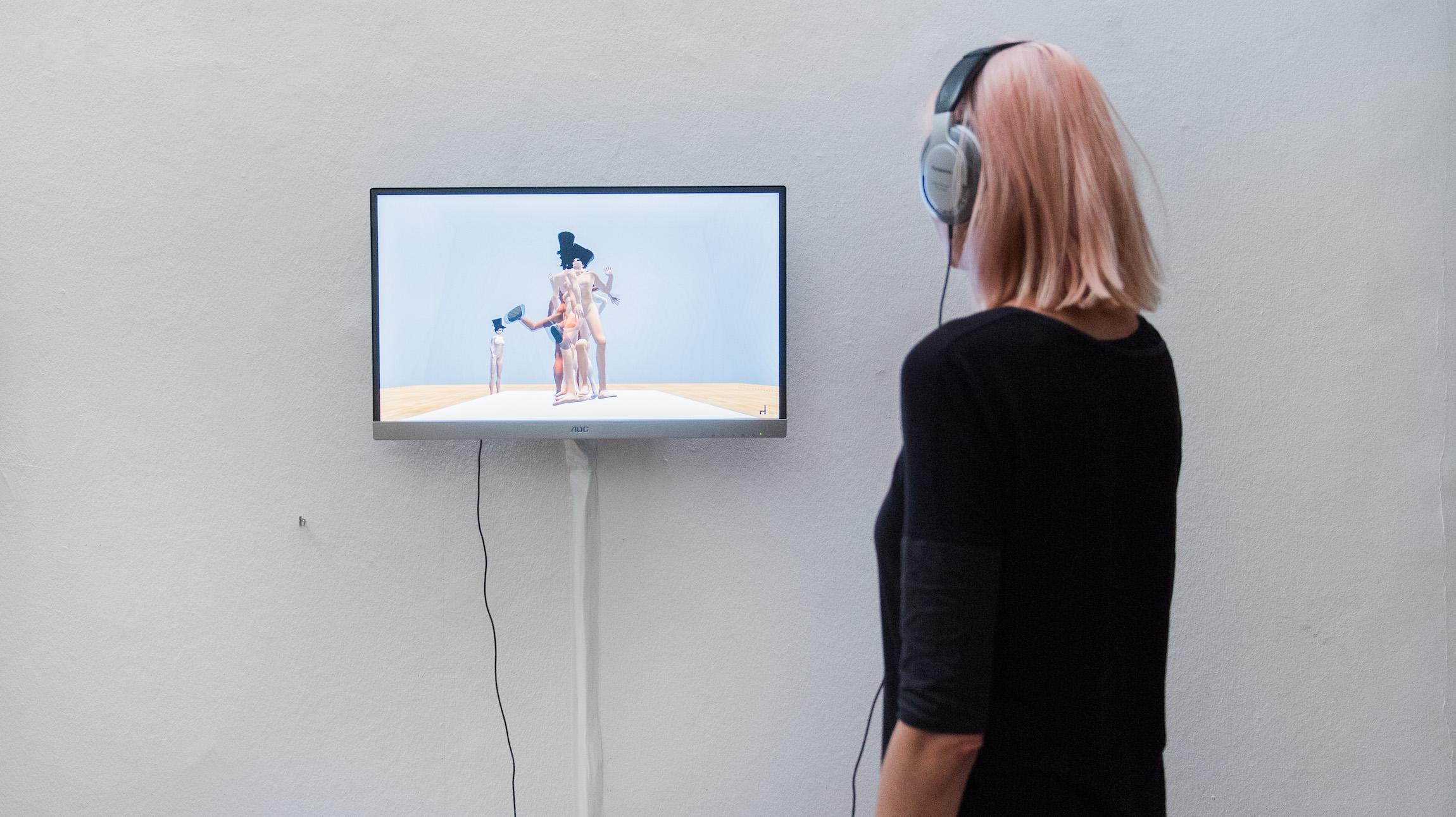 Exhibition view RESET III AND VIRTUAL REALITY, photo by Nathan Ishar / Artwork by Gazira Babeli