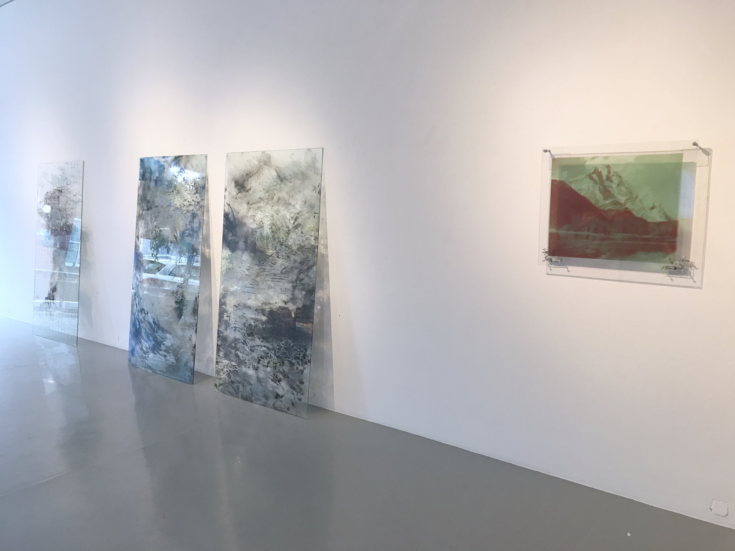 Exhibition view RESET III AND VIRTUAL REALITY, artworks by Carla Mercedes Hihn and Judith Sönnicken