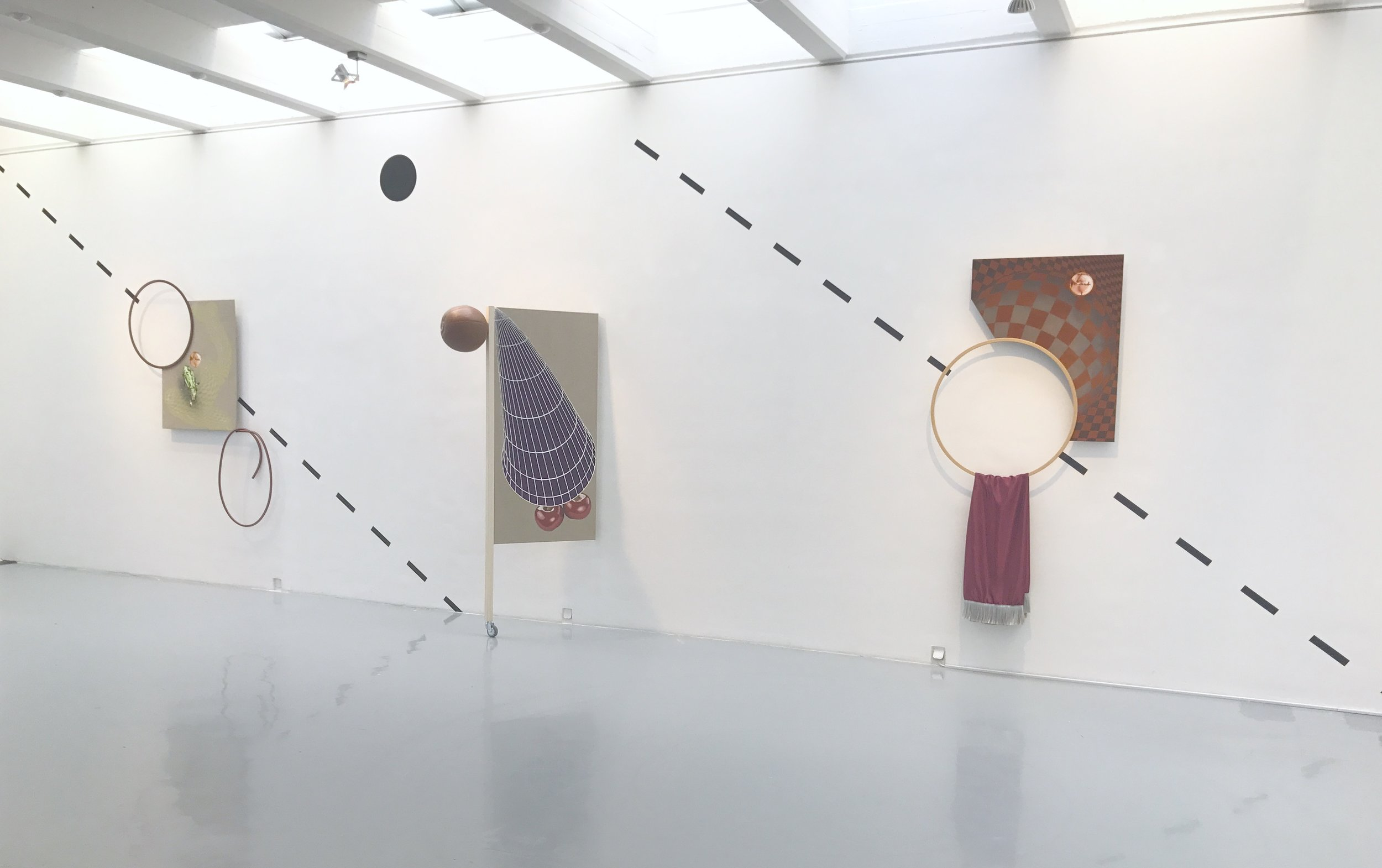 Exhibition view RESET III AND VIRTUAL REALITY / Installation by Dominik Halmer
