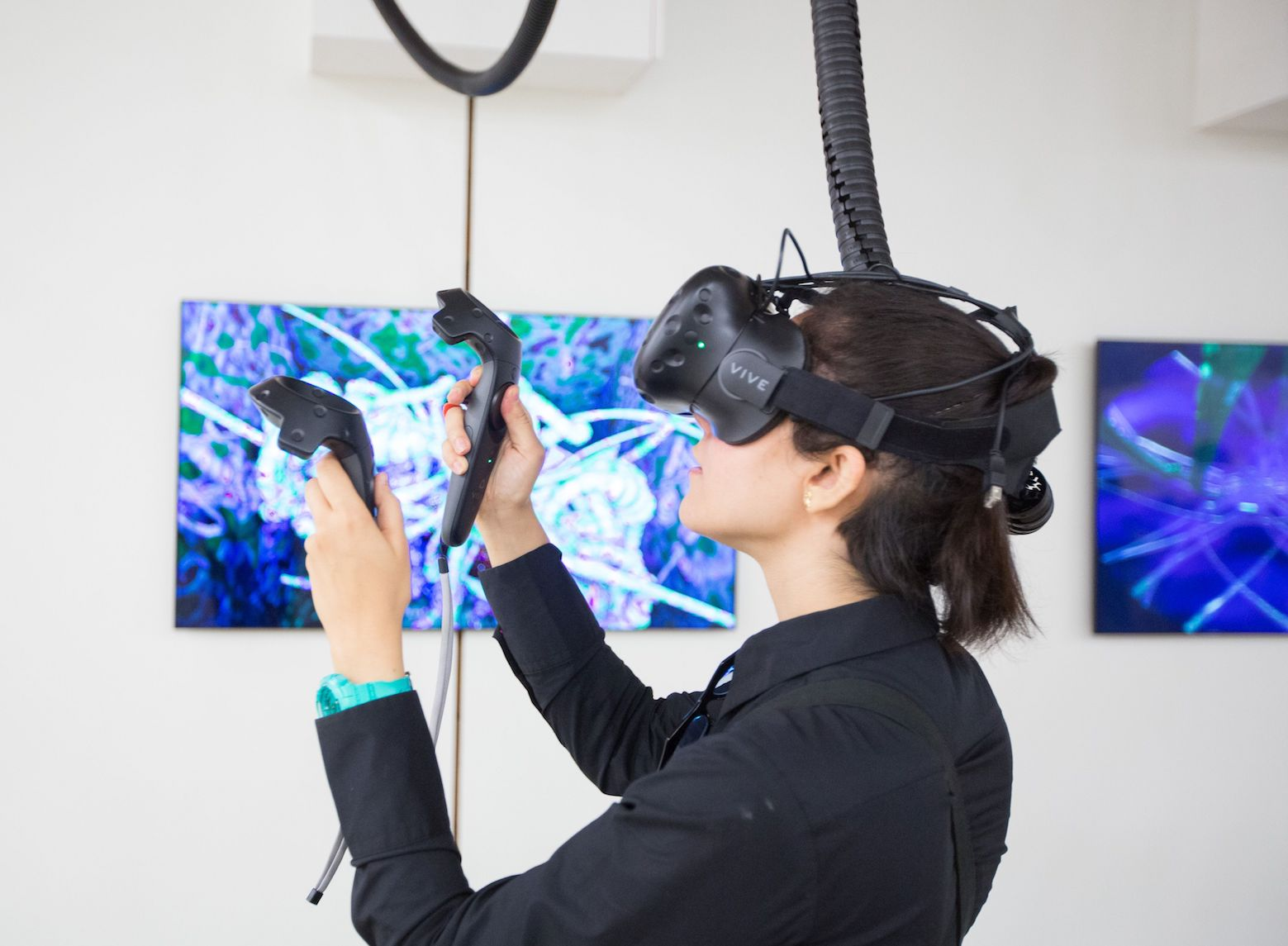 William Latham and Team, Mutator VR Mutation Space, VR Art Experience, Installation at Ars Electronica. 2017 © Ars Electronica.