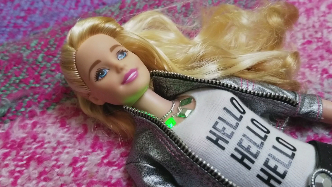 Faith Holland, Hello Barbie, video and interactive installation, 2018 © the artist