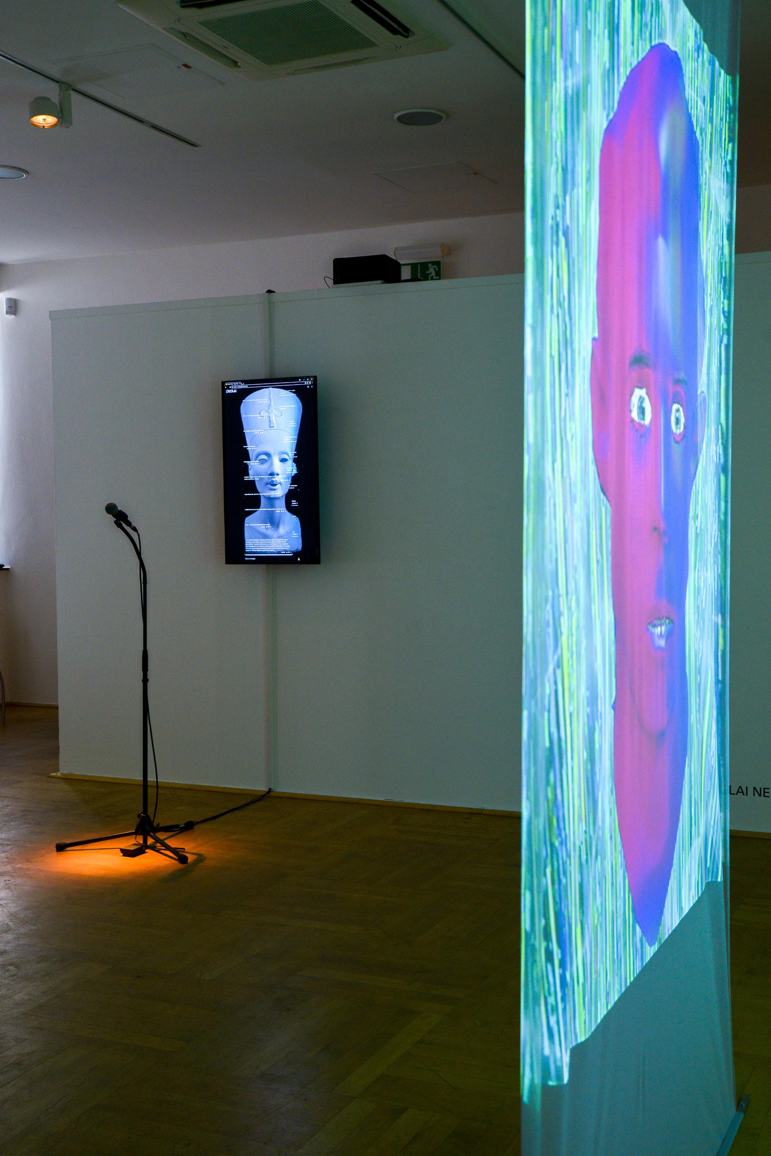 Exhibition view: PENDORAN VINCI, installation by Al-Badri & Nelles, and Jonas Blume, photo © Jonas Blume, 2018