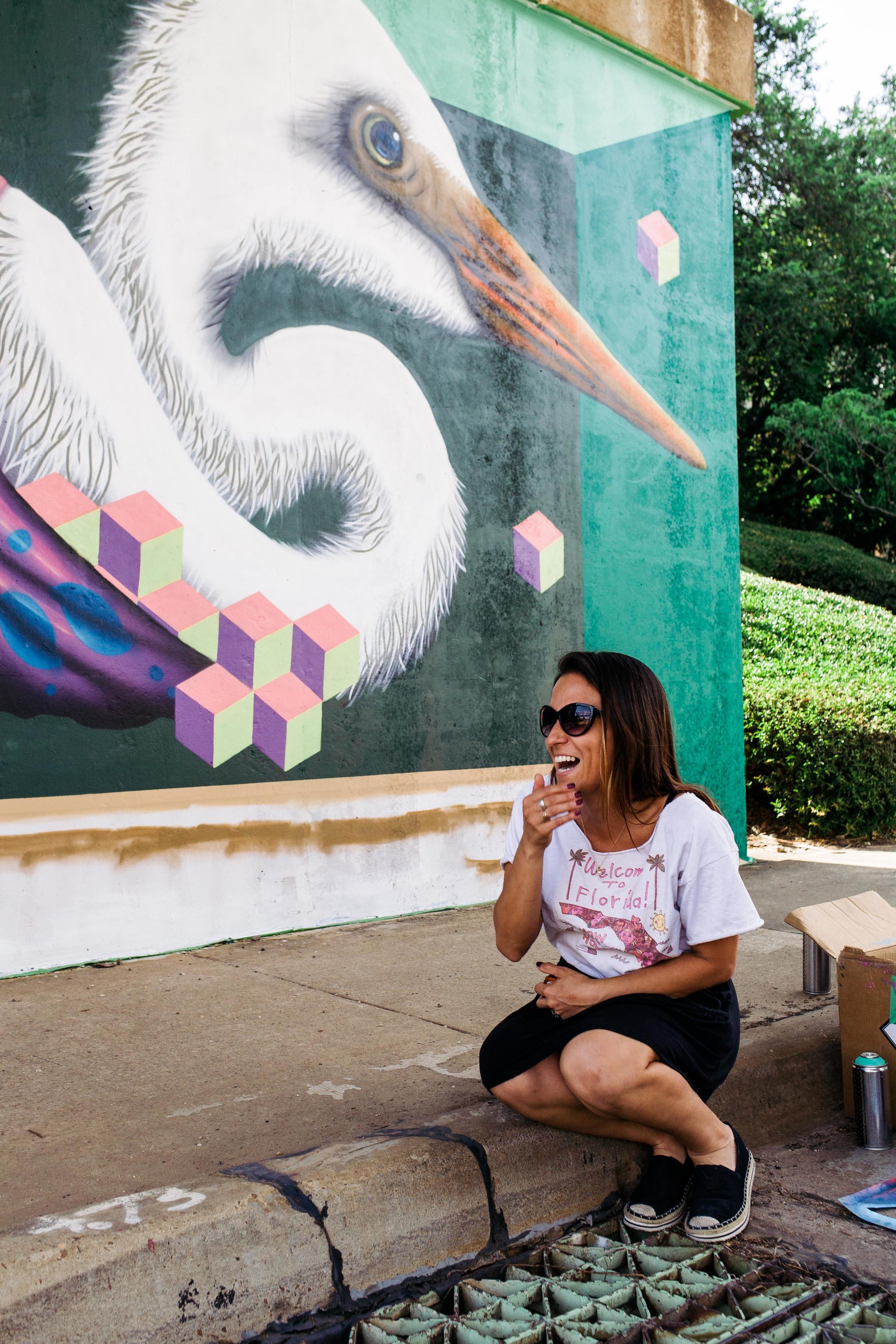Street Art Tallahassee's Chiara Saldivar McCluskey