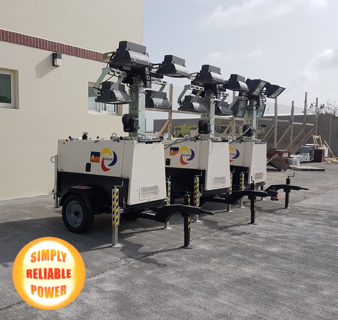 ARBOR Lighting Towers are sold and supported in the Caribbean and Latin America by @SRPAmericas. With an extensive inventory of ARBOR Lighting Towers in Miramar, Florida @SRPAmericas ARBOR Lighting Towers and spare parts are readily available. -