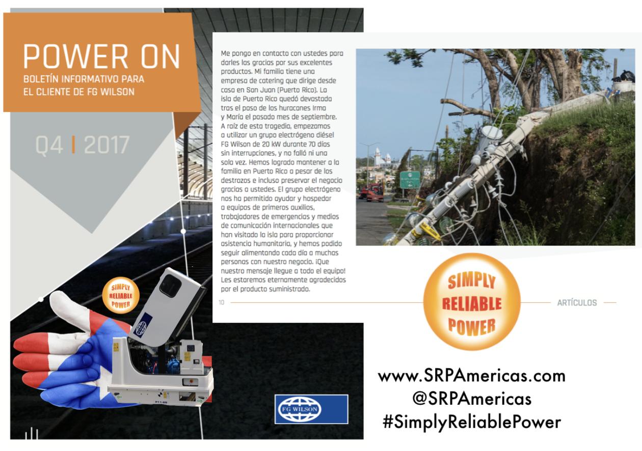 En temporada de huracanes @SRPAmericas tiene disponibles generadores electricos en San Juan, Puerto Rico.