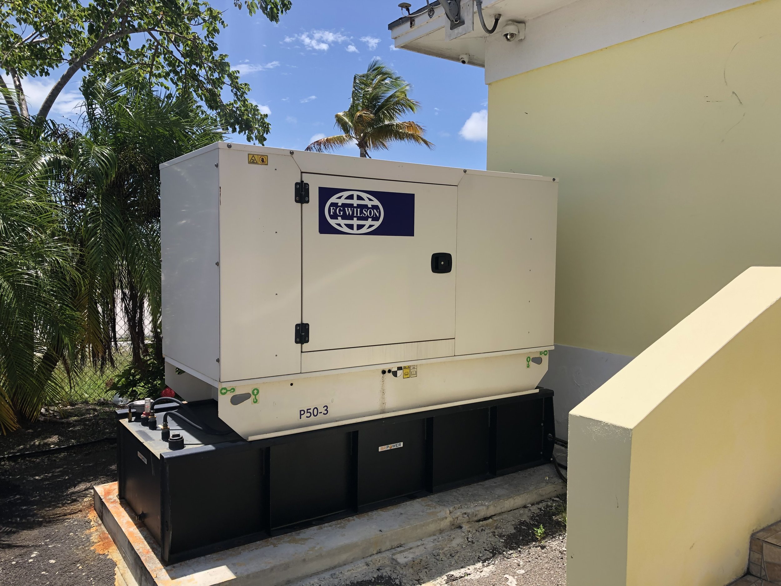 Generators and fuel tanks for homes in the Bahamas