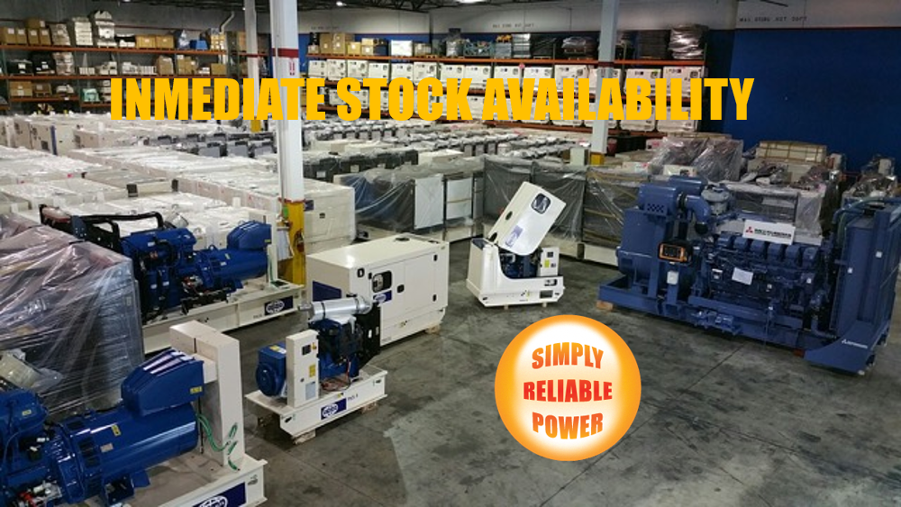 Simply Reliable Power carries more than 500 generators in inventory, ready to ship at all times.