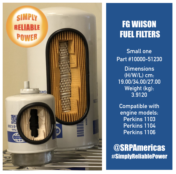 FG Wilson Filters for generators in The Bahamas
