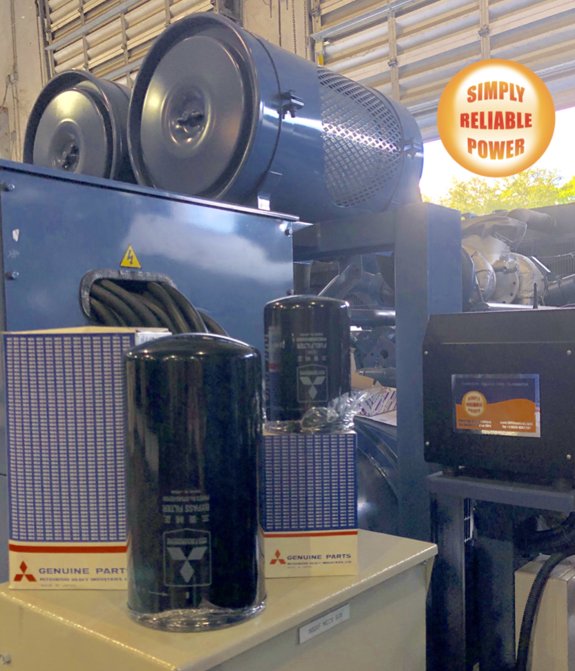 Mitsubishi generators and Genuine Parts inventory ready to ship to The Bahamas