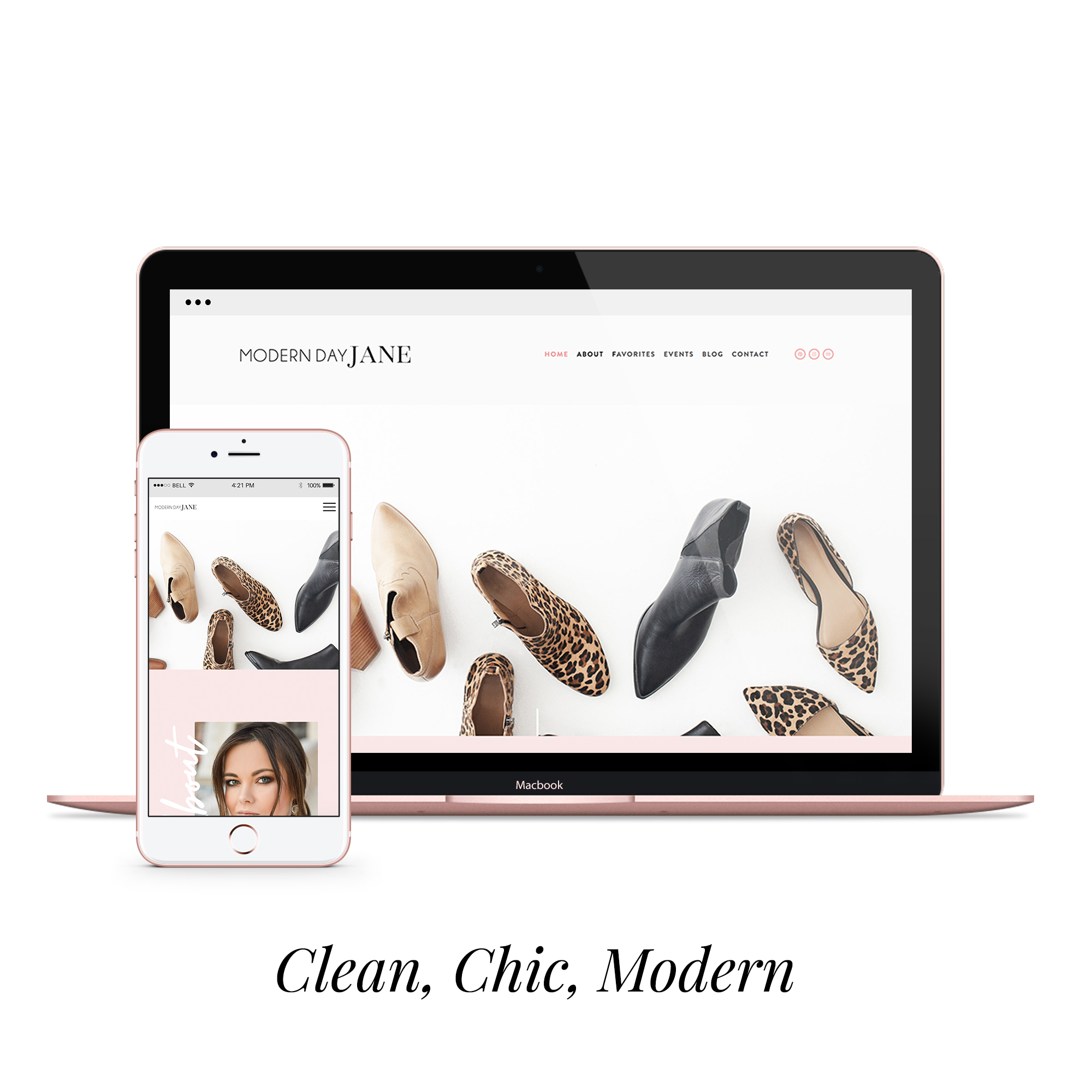 modern day jane  styled website  $450