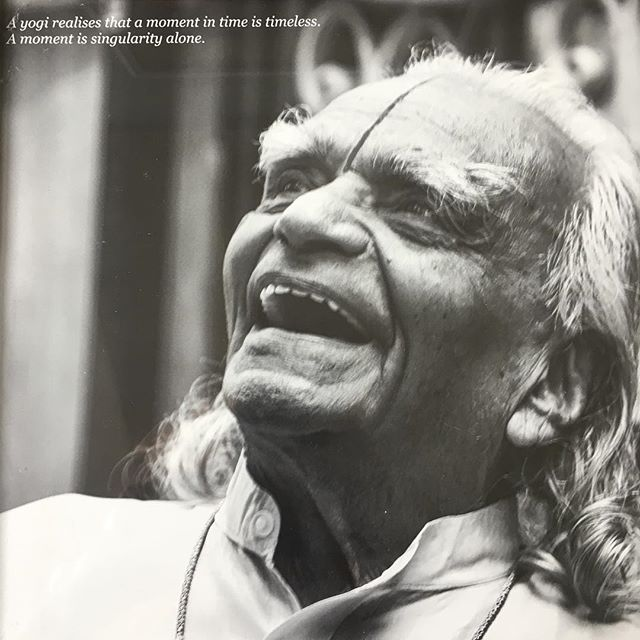 "Today is the anniversary of B.K.S. Iyengar's death. His work has impacted me in ways that can't be described in words. I have him to thank for so much of what is good in my life. Truly, his teachings have guided me through the dark night of the soul (sadness, despair, depression, fear, insecurity) to the light of a life that is now, for the most part, joyful and optimistic and full of gratitude. I remember the first time I saw Mr. Iyengar, from among a crowd. He was so short that at first I just saw the hairs on top of his head, and with that I immediately burst into tears of joy. I remember his deft and powerful touch that pierced through visible and invisible layers of body tissue, trauma, anxiety, and mental baggage to touch and transform ineffable aspects of my being. I remember the twinkle in his eyes as he sprinkled nuggets of ancient wisdom on anyone near him, everywhere he went. I remember when he looked me in the me in the eyes and said ""you should share it."" [yoga] Today I will honor him in the ways he would appreciate: Practice, and teach. Thank you, Mr. Iyengar! Jai Guruji! 🙏🏻 . . . . . . . #iyengaryoga #bksiyengar #jaiguruji #iyengaryogahawaii #yogainspiration #yogapractice #patanjaliyoga #gratitude"