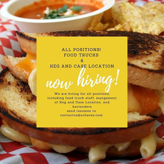 Are you or your friends looks for a fun summer job?! We are currently hiring for the summer. No experience necessary, but a fun go get it attitude is! Starting pay is $15/hr plus tips for truck and bartender positions, and DOE for management. #tellyourfriends #meltswelwithothers #foodtruck #kegandcase #stpaul #minneapolis #minnesota #summerjob