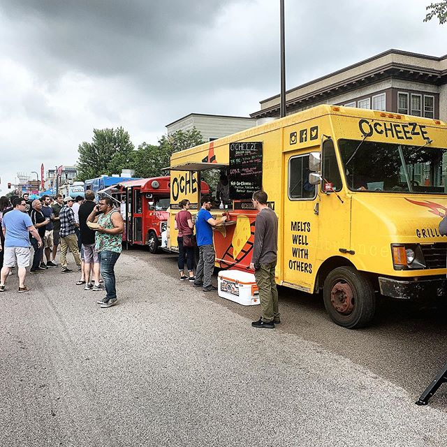 We're here at @uptownfoodtruckfestival  serving up delicious #grilledcheese all day right next to the @vikings #foundation #VikingsTable food truck and @doughdoughmn on Hennepin and 31st/32nd