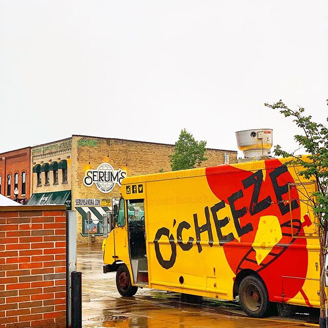 It's that time of year #anoka! We're here, and yes we all know it's raining, but we also know that #grilledcheese are delicious. Especially from the original grilled cheese #foodtruck in Minnesota! #foodie #foodtrucks #minnesota