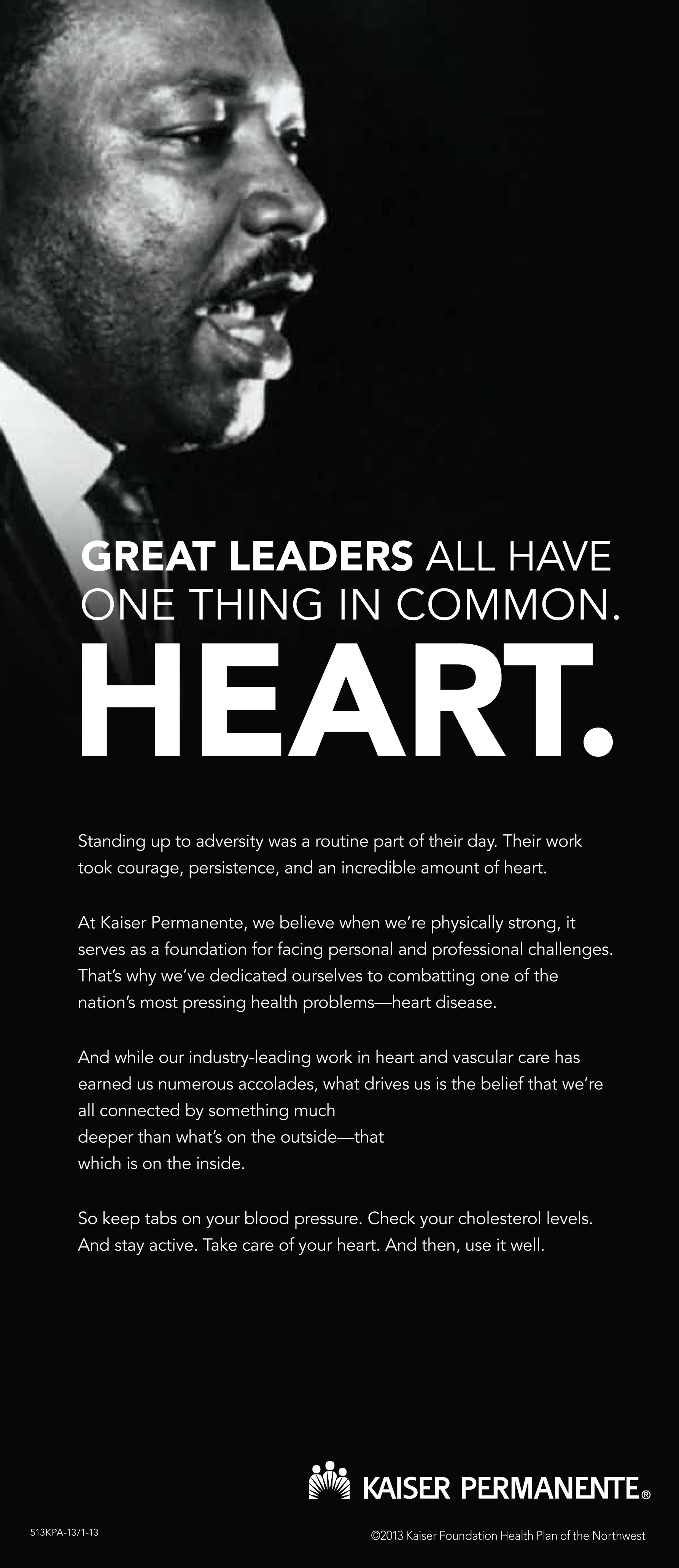 MLK Day/Heart Health Ad