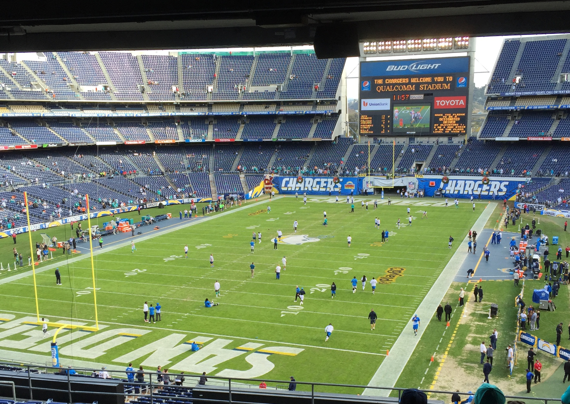 Chargers LAST HOME GAME 2015