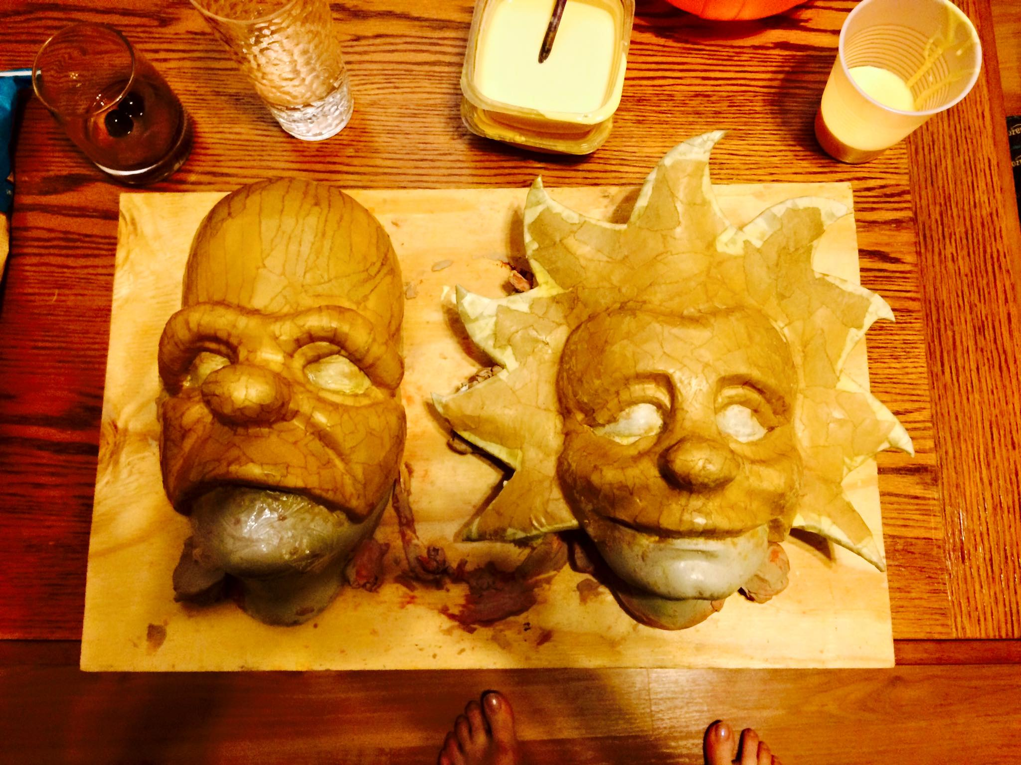 Homer and Lisa in process