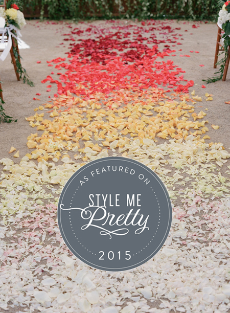 Vanessa & Peter's Colorful Ombré Wedding on Style Me Pretty