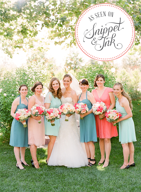 Anna & Matt's Whimsical Wedding - Featured on Snippet & Ink