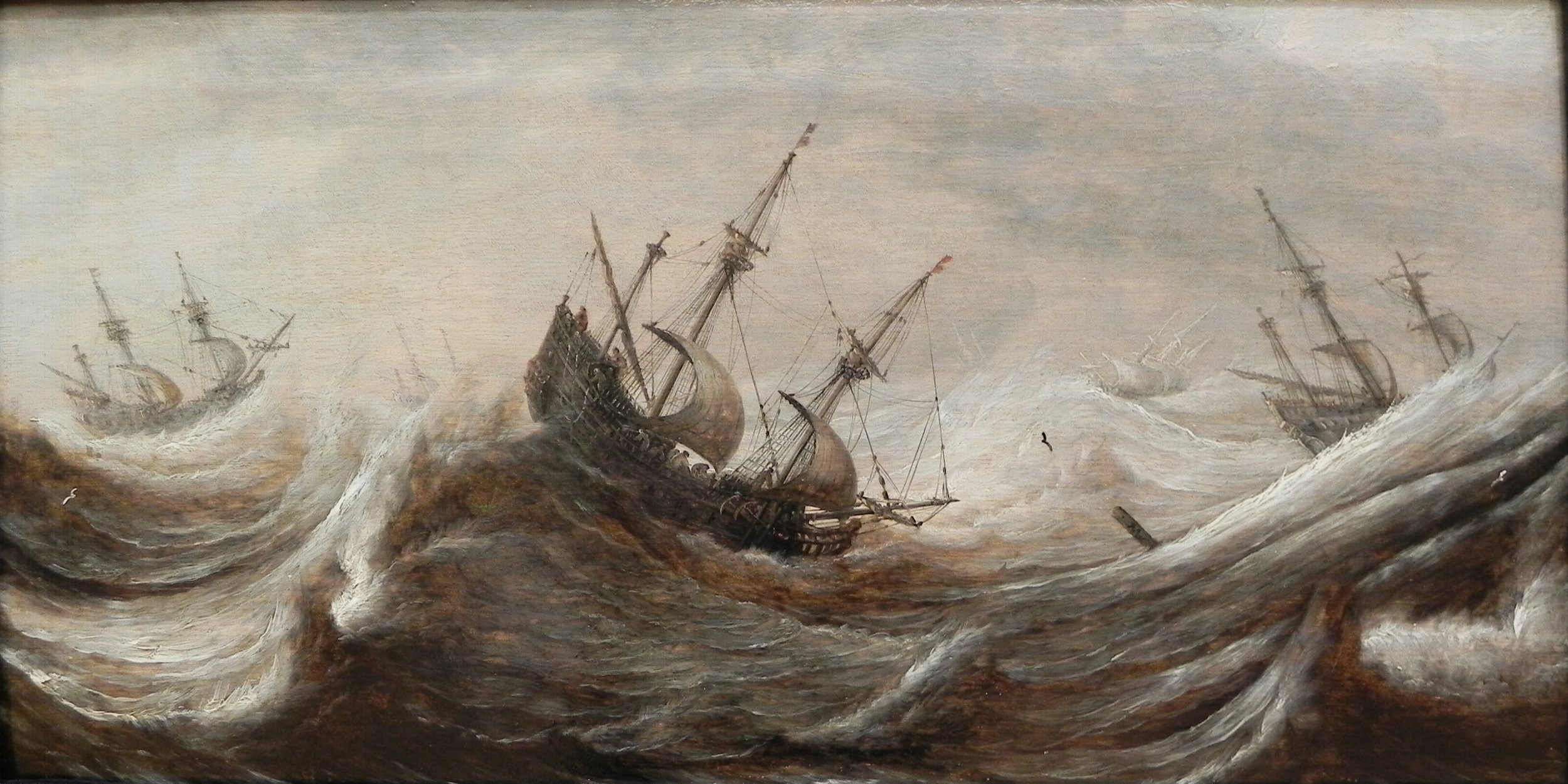 """""""Sailing ships in a breeze"""" by Pieter Mulier the Elder (His work period was between 1635 and 1659)"""
