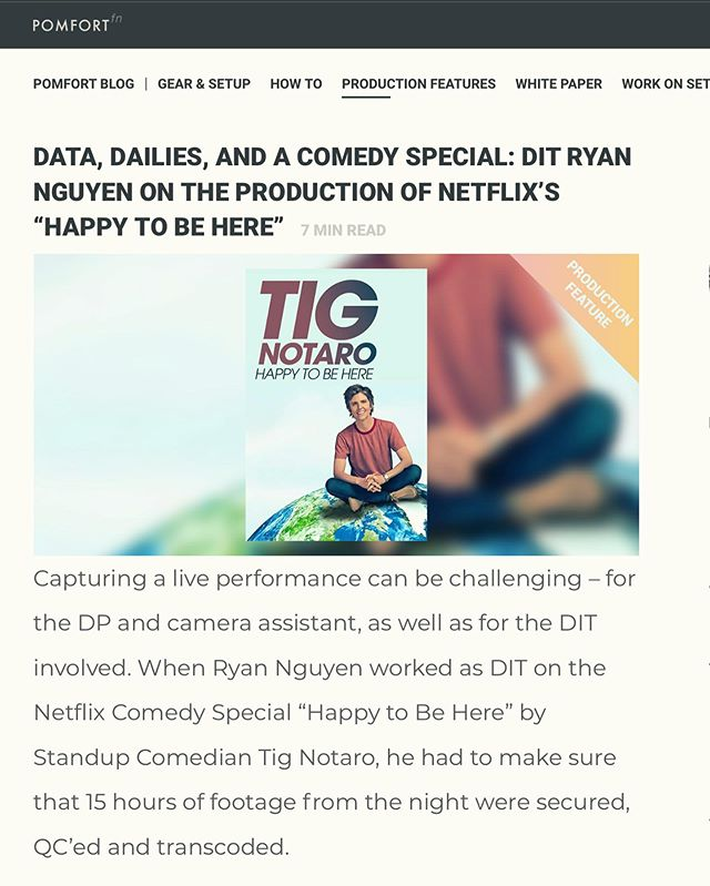 happy to be published on the Pomfort blog, click to read about me and other DITs!  https://pomfort.com/article/data-dailies-and-a-comedy-special-dit-ryan-nguyen-on-the-production-of-netflixs-happy-to-be-here/  #local600 #dit #digitalimagingtechnician #pomfort