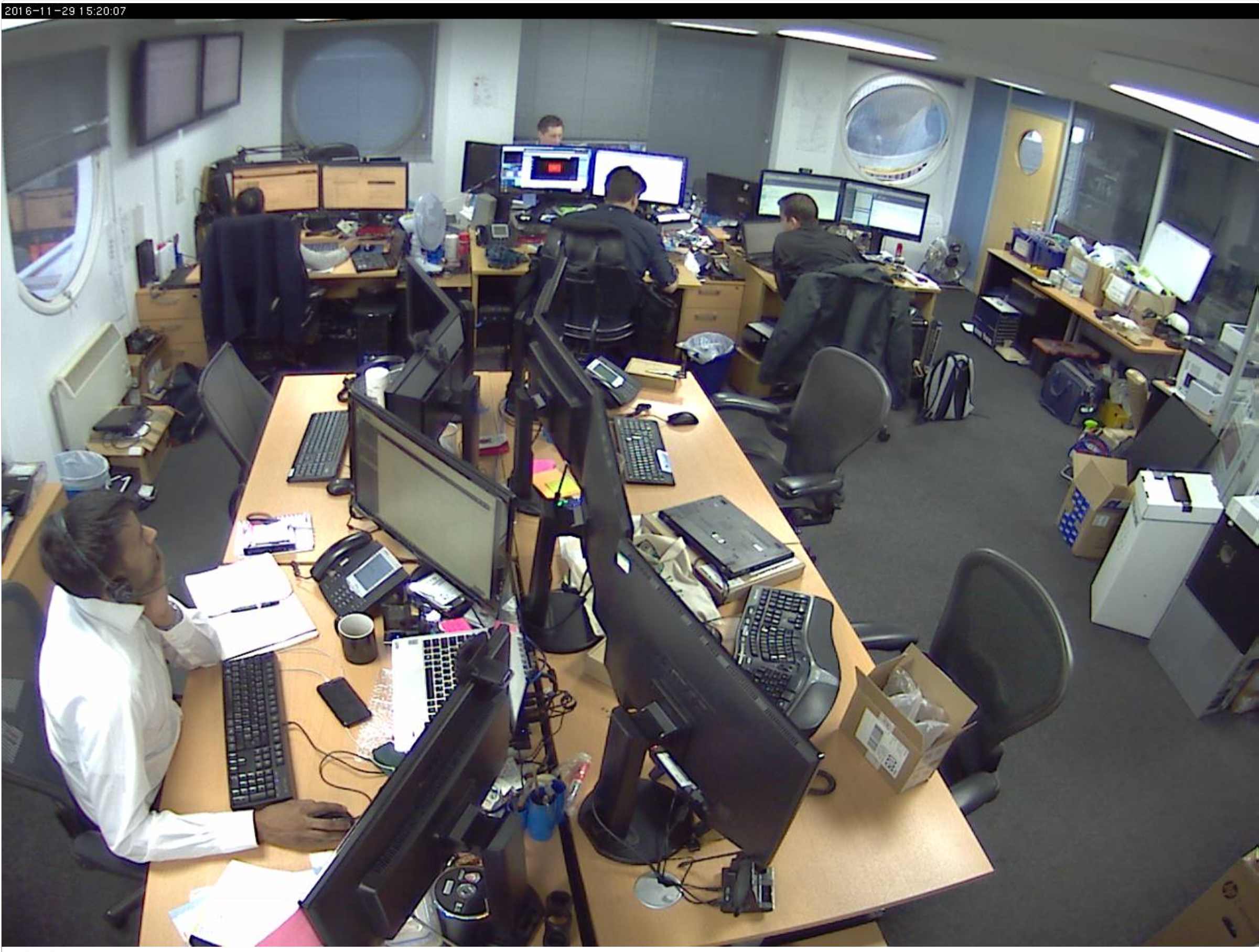 An average afternoon in the office. Some of us will likely be in and others out onsite (during UK office daytime) - feel free to click through and stalk us live.