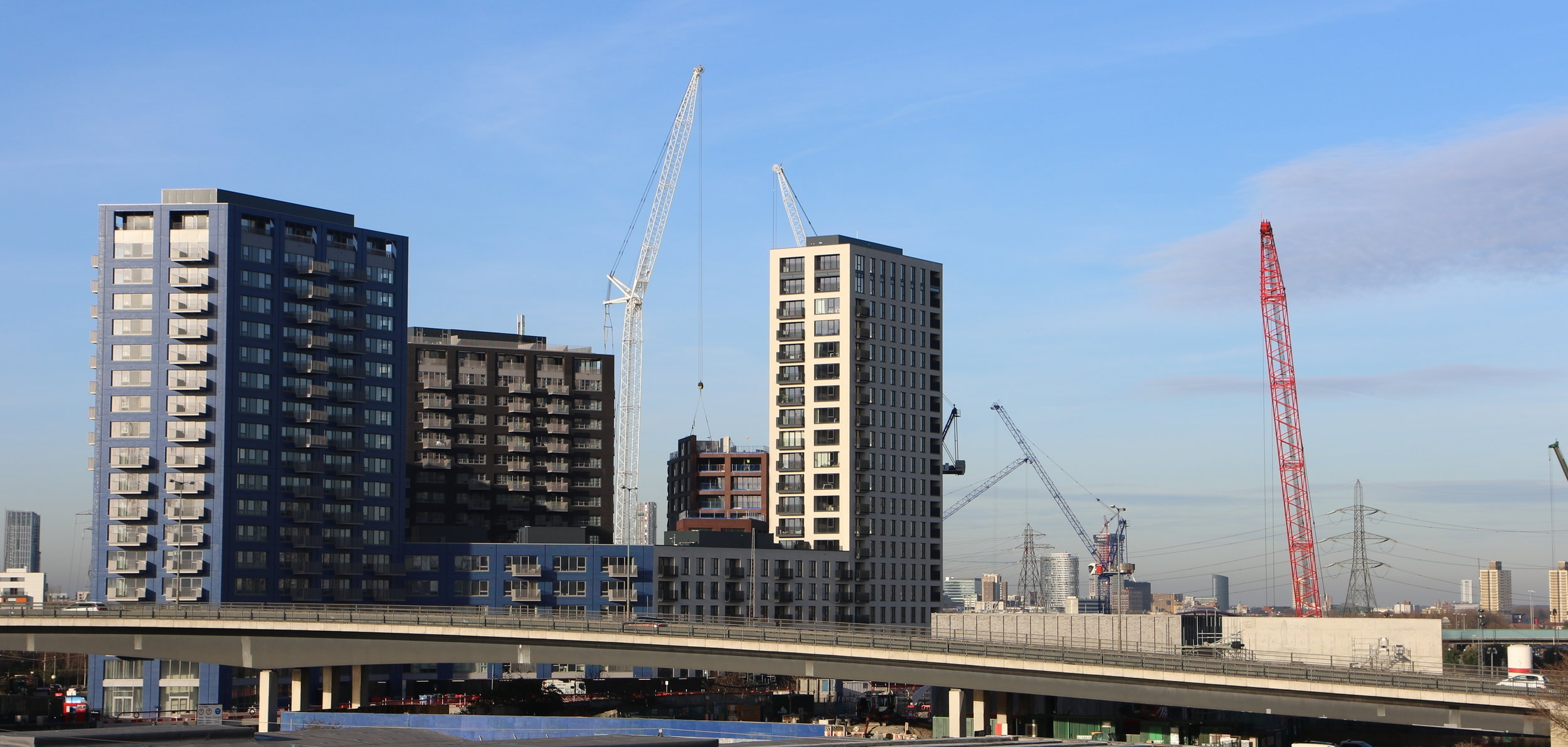 New Blocks going up in construction of London City Island - This photo was taken from our office so you can see how close we are!