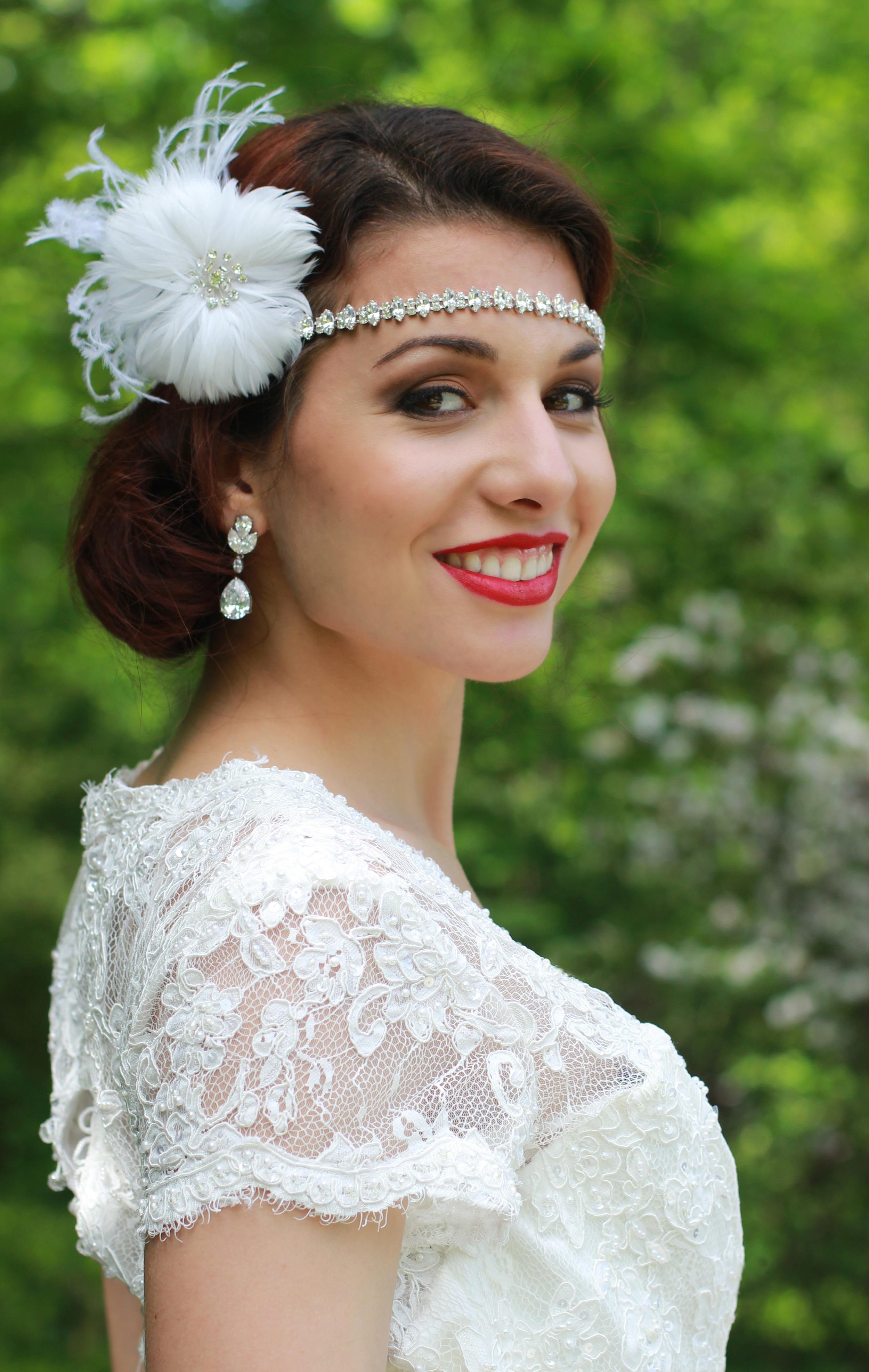 Vintage Glamour Wedding | Bride | Brookside Gardens - Jess Rudolph Photography: www.jessrudolph.com