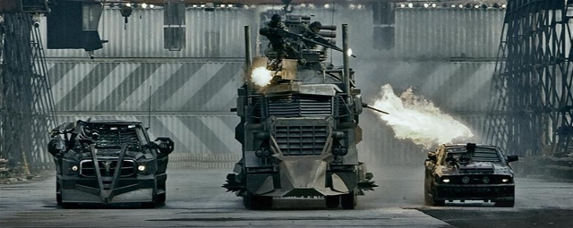 From the remake of Death Race. It's a truck that shoots fire. So cool, it's hot.