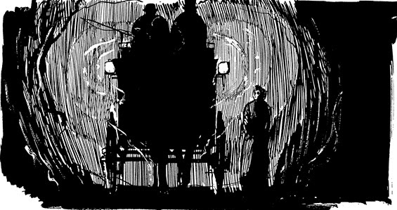 "A panel from Alan Moore's ""From Hell"""