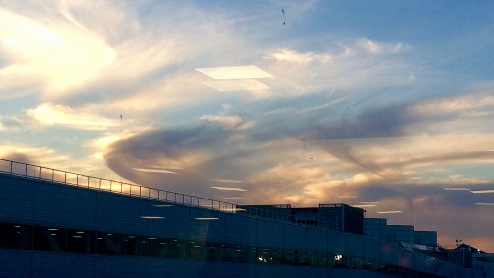 Sky at LaGuardia Airport, New York, New York. October, 2015. Photo by me.