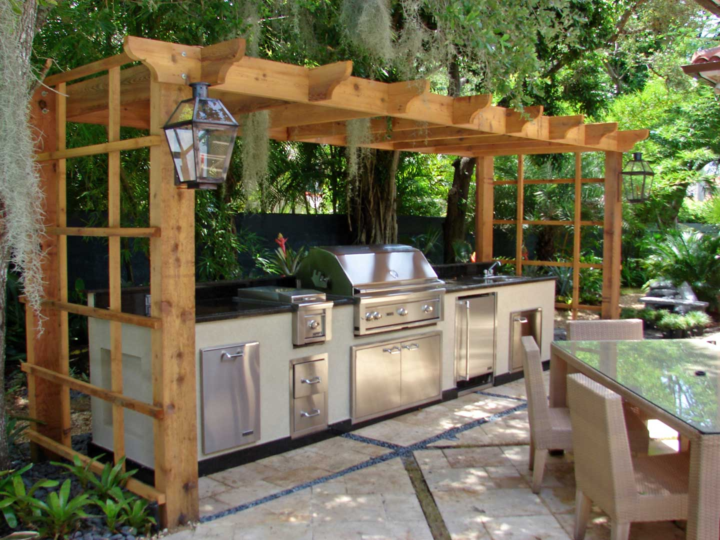 outdoor grill and kitchen in northern michigan