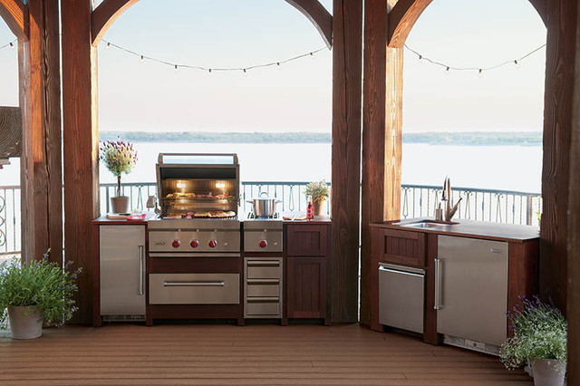 outdoor grill station in michigan