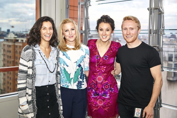 #fashmash hosts: Pia Stanchina of Google, Rachel Arthur of Fashion & Mash, Rosanna Falconer of Matthew Williamson, and Fintan Gillespie of Google